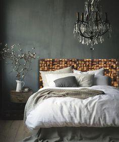 Cabecero de madera rústica  cabecero de la reina  por WallWooden