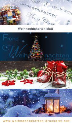 Weihnachtskarten Matt für Firmen www.weihnachtskarten-druckerei.net