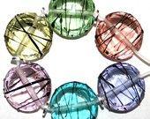 transparent color, flameworking, glas beads, stringer. Elizabeth Girod