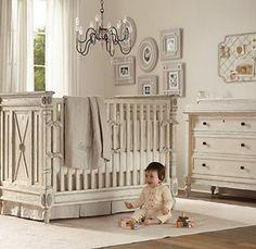 What a beautiful elegant nursery!!   luxurymag.com