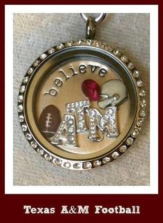 Texas A! LOVE it! WANT it!!!  WANT IT FOR FREE?? Ask me how!   Need Extra Money?  Love Origami Owl ? JOIN MY TEAM!  Designer#14669  Like me on FACEBOOK http://www.facebook.com/oragamitouchedbyacharm SHOP ONLINE @ http://touchedbyacharm.origamiowl.com/