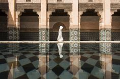Picture of man walking in Ben Youssef, Marrakesh, Morocco