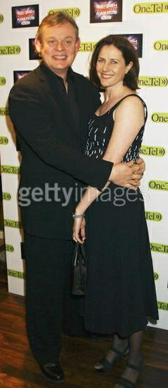Actor Martin Clunes and wife...