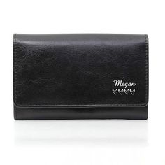 Black Leather purse wallet Personalise with name womens girls Little hearts notes purse coin purse w Popular Purses, Trendy Purses, Cheap Purses, Cute Purses, Purses For Sale, Small Purses, Trendy Handbags, Expensive Purses