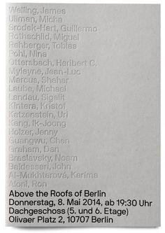 "build-built-built: "" Neubau / ""Above the Roofs of Berlin"" / Exhibition & Sales Catalogue / 2014 "" Typography Prints, Typography Poster, Typography Design, Lettering, Editorial Layout, Editorial Design, Book Cover Design, Book Design, Set Design"