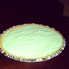 Weight Watchers Key Lime Pie - 5 Points Plus --  reduced fat graham cracker crust, sugar-free lime gelatin, water, fat-free whipped topping, key lime pie yogurt