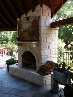 French grout and types of on pinterest for Austin stone fireplace
