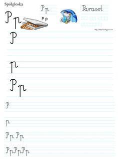 LITERKA P | BLOG EDUKACYJNY DLA DZIECI Polish Language, Worksheets For Kids, Montessori, Origami, Classroom, Exercise, Math Equations, Literatura, Class Room