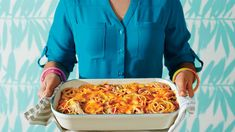 Chicken-Spaghetti Casserole - 26 Favorite Chicken Casseroles - Southern Living - Casseroles are where you can see Southern ingenuity at its best, and the eighties had no shortage of inventive ideas. This particular Southern standard gave us all the warm and fuzzy memories we were craving.  Recipe: Chicken-SpaghettiCasserole