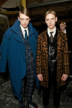 Backstage at E. Tautz Men's RTW Fall 2014 [Photo by James Mason]