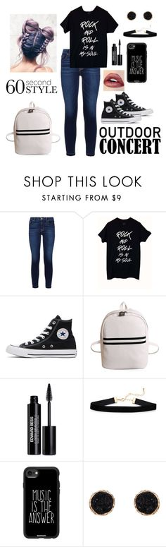 """60 Second Style: Outdoor Concert"" by artisticstyler ❤ liked on Polyvore featuring Hudson, Converse, Edward Bess, Casetify, Humble Chic, 60secondstyle and outdoorconcerts"