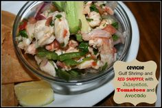 Ceviche with Shrimp and Red Snapper