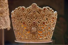 kind of traditional Russian headdress. The Russian Museum, S.-Petersburg, Russia