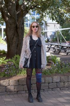 This girl looks just like me. Weird. Reykjavik Street Style by Adelina Antal