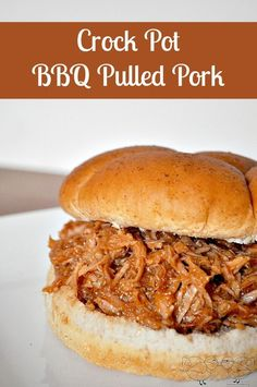 Crock Pot BBQ Pulled Pork - Such an Easy dinner idea and Party Recipe! {The Love Nerds}