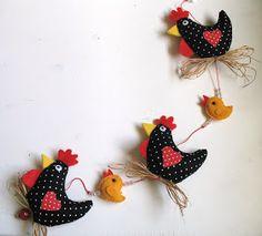 Outra versão da galinha, agora com seus pintinhos.