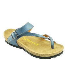 Look at this #zulilyfind! Blue Santa Maria Sandal by California Footwear Company #zulilyfinds