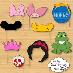 Disney Photo Booth Props Mickey Mouse Disney by little forests Pinned by www.TheDisneyKids.com