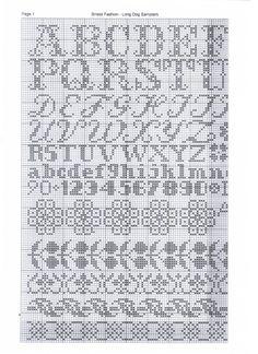 Cross Stitch Alphabet, Cross Stitch Samplers, Cross Stitch Charts, Cross Stitching, Monogram Alphabet, Alphabet And Numbers, Blackwork, Bristol Fashion, Plastic Canvas Letters