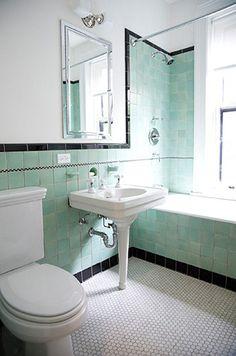Roberts Bathrooms Enchanting With Elizabeth Vintage Green And Black Tile Bathroom Brooklyn