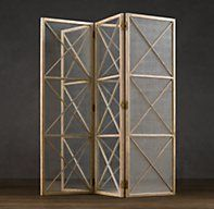 Weathered Oak Screen with Mirror-  Restoration Hardware- $1500 Love this, now where to put it?  In the right spot it would be fabulous.