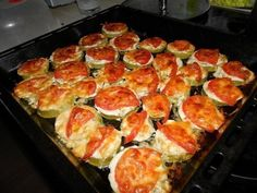 Courgettes with cheese