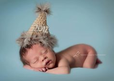 Crochet NEWBORN New Year's  Party Hat Photography Prop. $23.00, via Etsy.