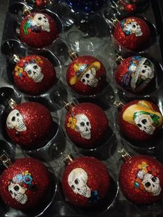 Day of the Dead Christmas Ornaments by CreativeGitana on Etsy, $17.25