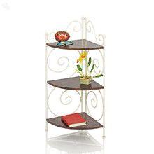 Corner Shelf Solid Wood & Iron - Palomino