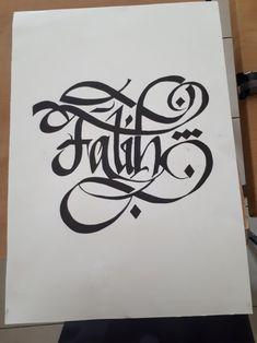 Kendi yaptığım hat Beautiful Notes, Flourishes, Calligraphy Art, Tatoos, Graffiti, Fonts, Typography, Drawings, Decor