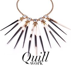 Porcupine quill jewelry!  I totally need to make some with my extra quills!