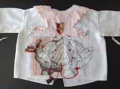 Embroidery- Karin van der Linden. Textiles, Textile Fiber Art, Altering Clothes, Sewing Art, Fabric Manipulation, Couture, Embroidery Dress, Fabric Art, Textile Design