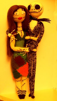Jack Skellington Doll Knitting Pattern : Sally amigurumi nightmare before christmas by ahooka (link to pattern in the ...