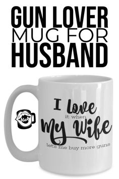 """Details about  /Funny Husband Mug /""""I Love My Handsome Hubby/"""" Tea Coffee Cup Christmas Gift"""