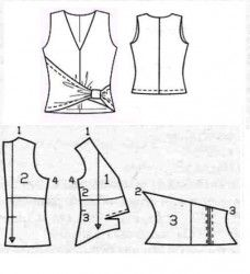 pattern to make this fasionbale top, site in russian Sewing Hacks, Sewing Tutorials, Sewing Crafts, Sewing Projects, Techniques Couture, Sewing Techniques, Pattern Cutting, Pattern Making, Clothing Patterns