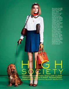 """High Society"": Rintje van Witjick as Margot Tenenbaum by Naomi Yang for Glamour France November 2012"