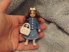 Miniature handmade MINI GIRL CHILD ooak DOLLHOUSE ART DOLL DOLLS HOUSE JOINTED