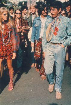 Pattie Boyd and George Harrison in San Francisco