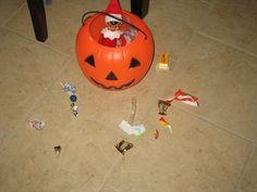 Get rid of all the old Halloween candy before the holidays.