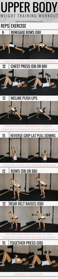 TIGHT ARMS Upper Body Workout   Click for the workout plan by LaurenGleisberg.com