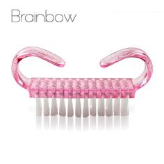 Brainbow Quality 2pcs/pack Pink Plastic Nail Brush Dust Clean Brush Nail Arts Manicure Pedicure Tool Mini Cute Style 6.8CM*5CM