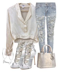 """""""Untitled #3451"""" by breannamules ❤ liked on Polyvore featuring Chanel, Giuseppe Zanotti, Yves Saint Laurent and Michael Kors"""