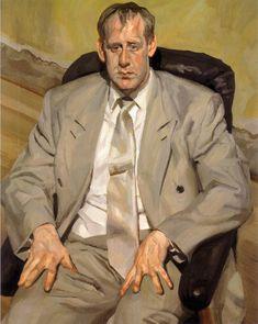 ALONGTIMEALONE: geritsel:  Lucian Freud - man in a silver suit
