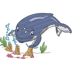 Baby Humpback Whale embroidery design collection is digitised for the inch hoop x and is available in ART DST EXP HUS JEF PES VIP and XXX formats Humpback Whale, Whales, Vip, Embroidery Designs, Disney Characters, Fictional Characters, Baby, Collection, Baleen Whales