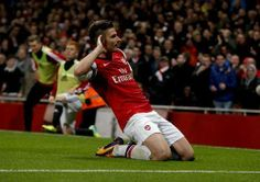 Giroud Celebrates vs Southampton 2013-2014.