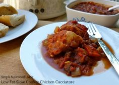 Low Fat Slow Cooker Chicken Cacciatore