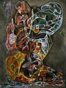 Charles Seliger, Homage to Erasmus Darwin - Abstract Art Painting, Art Painting, Cobra Art, Abstract Painting, Painting, Intuitive Art, Art, Abstract, Outsider Art