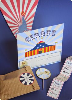 Pour une fête d'anniversaire sur le thème du CIrque : 1 clic et on imprime ! / birthday party circus kit