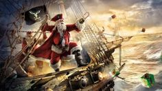 Pirates of the Caribbean Christmas wallpaper Wallpaper Natal, Wallpaper Free, Wallpaper Backgrounds, Computer Wallpaper, Merry Christmas, Christmas Humor, Christmas Time, Coastal Christmas, Christmas Ideas