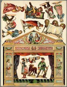 Paper Model History - 1900`s Paper Theater Play Set - by Geheugen Van Nederland  - == -  This beautiful and rare model of a vintage Paper Theater was preserved and now is shared by Geheugen Van Nederland, a Dutch website.